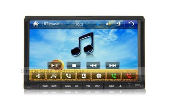 ENO Car DVD GPS,2 din 7 inch slide down universal Car DVD Player,with GPS TV Bluetooth Radio,3G/WIFI(optianal)