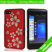 High Quality Hawaiian Flower Style Hard Plastic Cover Case for Blackberry Z10 BB 10 Free Shipping UPS DHL HKPAM CPAM HY-8