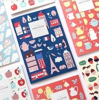 Freeshipping wholesale Korean stationery Cartoon Notepad korean school supplies cute blank journal work plan book schedule book