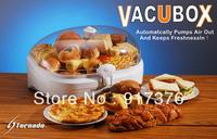 Fully automatic large capacity suction vacuum bin crisper battery power vacuum bread box 3L 27*22*25cm