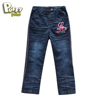 Free shipping New spring autumn children kids girl casual jeans pants trousers children jeans wear age 3-15 years LCQS2102
