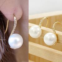 D210 accessories stud earring accessories gentlewomen rhinestone pearl earring earrings