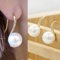 D210 accessories stud earring accessories gentlewomen rhinestone pearl earring earrings
