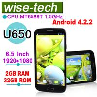 2013 new arrival U650 MT6589T Quad Core 1GB/2GB RAM 16GB/32GB ROM Android 4.2.2 phone\kevin