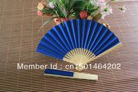 20pcs/lot free shipping mixed colors bamboo paper folding fan