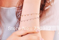 pure 18k  gold  women bracelets lucky small pearl Fashion Jewelry romantic gift  free shipping