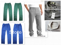 2013 men's  Pure color and velvet trousers Thickening sports pants autumn winter to keep warmsize S M L XL  Free shipping