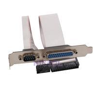 NI5L PCI Slot Header Serial DB9 Pin COM with Parallel DB25 Pin LPT Cable Bracket