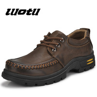 Free shipping genuine leather men's casual shoes Big head Brock shoes,Fashion Leather design men casual Shoes lace-up Hot sell
