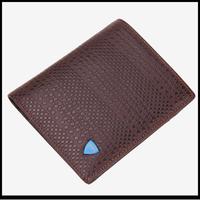 Brown men wallet genuine leather purse