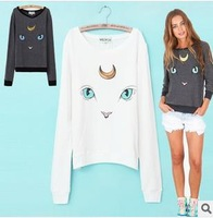 Wildfox Autumn Long sleeve Woman's T-shirt Sweatshirt Cat