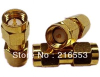 SMA male to SMA male plug in series RF coaxial adapter connector  10pcs/lot