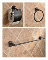 oil rubbed bronze orb classic bathroom hardware tool toilet paper holder towel ring towel bar brass bath accessory 3 pieces set
