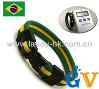 2014 World Cup Football Wristband, Brazil Country Flag Bracelet, 100pcs/lot, Free Shipping