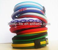 2014 World Cup Football Wristband,  Titanium Ionic Country Flag Bracelet, Power Energy Band, 100pcs/lot, Free Shipping