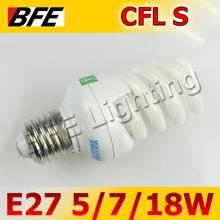 Super Deal Cearance 5/7W Spiral E27 Fluorescent Light Bulb Energy Saving Warm/Day White CFL(China (Mainland))