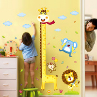 2013 new diy removable wall stickers Cartoon baby child height stickers ~ child cartoon decoration sticker  Free Shipping