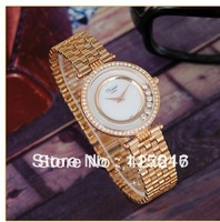 wholeasales 1pc/lot  High Quality Diamond Watches Rhinestone Drill Watches luxury brand fashion for woman logo name wristwatch