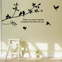 Free shipping home decor wall stickers birds on branch