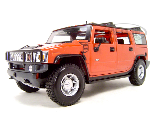 Brand New MAISTO 1:18 Scale Hummer H2 SUV Orange Diecast Car Model In Stock(China (Mainland))