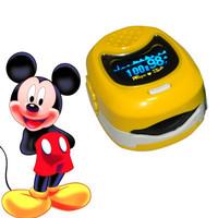 *Yellow* CMS50QB Color LED Display Portable Handheld Pediatric Fingertip SPO2, Pulse Rate Pulse Oximeter