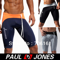 Free Shipping!Sexy Men's Splice Sports Home Underwear Short Pants Drawing Skinny Size M, L,XL Navy Blue/Black/Grey  CL4460