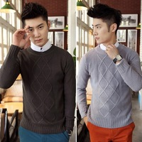 Autumn and winter large size men's diamond design Hot selling Mens sweaters 128023