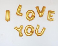 Minimum order 5pcs  12 inch Gold and Silver Letter Foil Balloons A-Z For Wedding Birthday party, party accessories