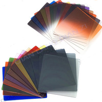 100% GUARANTEE 24pcs Square Full + Graduated Gradual Filters  Set Color for Cokin P Series