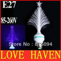 2013 new 3W E27 LED Fiber Optical Light Flower Stage Light Christmas Tree Beauty Lamp light 85-260V Blue for KTV home decoration