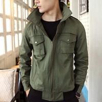 On Sale Men's Jacket New design double zipper for Mens coat 3 color 4 size 122054