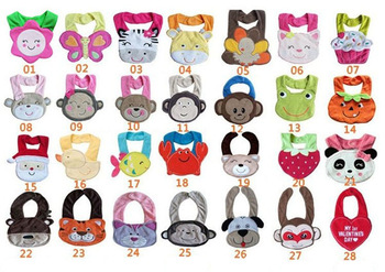 10pcs/lot Free Shipping Baby Bib Infant Saliva Towels Baby Waterproof Bib Mark Carter Baby Wear Kids Apron Nursing Cover TPW0001