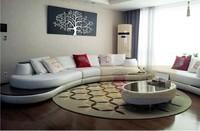 High-grade leather sofa KUKA living room modern luxury fashion home furnishing combination Quanyou Qumei wood sofa