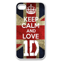Keep calm and love ID one direction uk flag plastic hard cover case for iphone 4 4s 4g hot sale