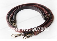 Pu leather 5pcs/lot 125cm brown DIY purse handle bag shoulder straps parts accessories adjustable