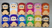 hot sale!! 12 Colors King Monkey Shape Soft Silicone Back Skin Case Cover For Blackberry Curve 9320
