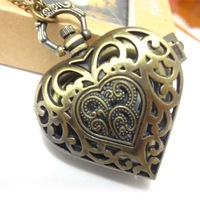 free shipping!!! pendent pocket watch /mixed Antique Bronze Mechanical Locket Watch pocket, for free shipping