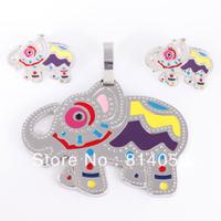2013 New  Stainless Steel 316l Women's Clasic Fashion Jewelry Set Animal Earrings & Pendant Set TZ031