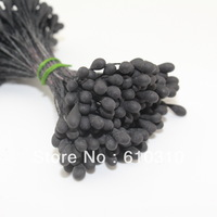 Free shipping hot sales 3mm taiwan quality eco-friendly xmas matte black stamen for cake decor/crafts/Nylon flower(1440pcs/lot)
