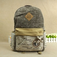 2013 school bag HARAJUKU canvas school bag double-shoulder school bag