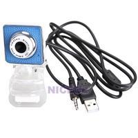 NI5L USB 2.0 360 Degree Rotation Web Camera Webcam with Mic for Laptop Desktop
