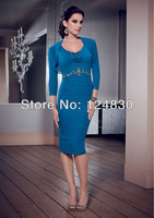 Free Shipping Good Quality Elegant Sequined Knee-Length Formal Dress Evening Dress With Jacket