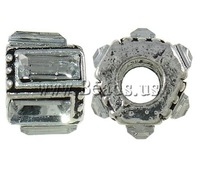 Free shipping!!!Zinc Alloy European Beads,2013 new arrive mens, Drum, antique silver color plated