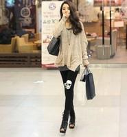 Hot models skull skull lady pantyhose stretch cotton trousers Leggings Kito 200pcs/lpt Free Shipping