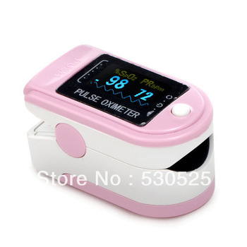 *Pink* CE FDA Approved Finger SPO2 Monitor, Fingertip Pulse Oximeter Blood Oxygen Saturation Monitor, Brand New CMS50D