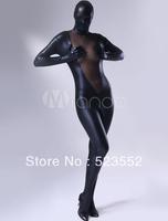 2013 full body suit costume body suits for women Marvellous Black Shiny Metallic Lycra Female Zentai Suit fetish body suits