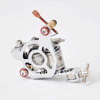 SIlver  Cheap Sell Powerful High-Quality Iron Tattoo Machine Gun  8 Wraps Coils  Tattoo Equipment Kit Free Shipping