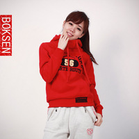2014 winter new arrival hoddies pullover casual personality plus size sweatshirt female outerwear