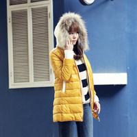 2014 high quality slim medium-long down coat female