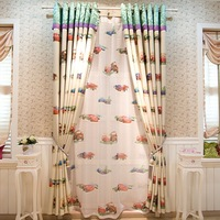 Cartoon boy child dodechedron cloth curtain window screening cloth finished products
